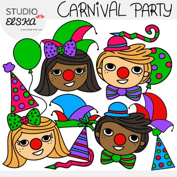Carnival/Mardi Gras/Karneval/Fasching Party Clipart