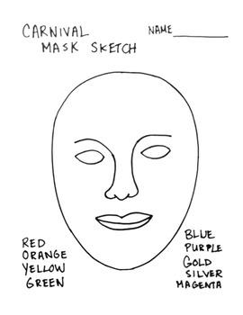 Carnival Masks Art Lesson!