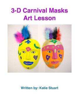 Carnival Masks Art Lesson!