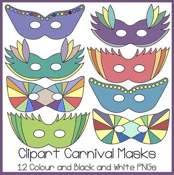 Carnival Masks Clipart