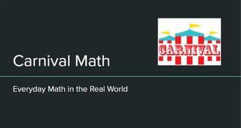 Carnival Math - editable packet