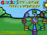 Carnival Money, Time, Calendar, and Temperature Jeopardy Review