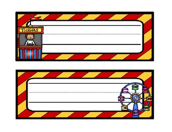 Carnival Name Tags and Desk Tags