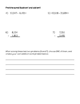 Carnival Night Addition: Word Problems & Extended Practice