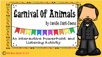 Carnival Of Animals: A Listening Activity and Powerpoint for the Music Class