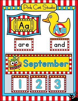 Carnival Theme Classroom Decor Pack - Circus Owls Theme