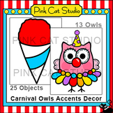 Owl Theme - Carnival Coordinating Accents Decor