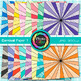 Rainbow Carnival Paper {Scrapbook Backgrounds for Worksheets, Resources} 1