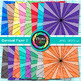 Rainbow Carnival Paper {Scrapbook Backgrounds for Worksheets, Resources} 2