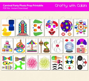 Carnival Party Photo Booth Prop, Fun Fair Party Photo Booth Prop