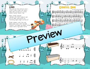 Carnival Song - Original Song w/ Orff instrument accompaniment