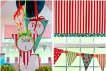 Classroom Decor Carnival Table Pennants