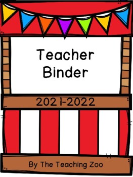 Carnival Teacher Binder {FREE yearly updates!}