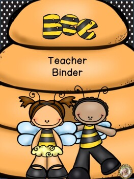 Bee Theme Teacher Binder {FREE yearly updates!}