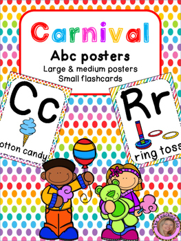 Carnival Theme ABC Posters - Large, Small & Flashcards