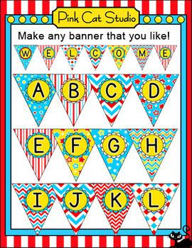 Circus Theme Bunting - Carnival Theme