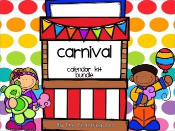 Carnival Theme Calendar Kit Bundle