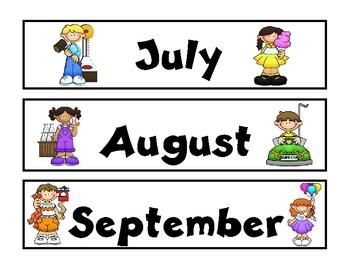 Carnival Theme Calendar Months