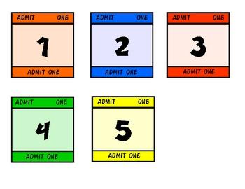 Carnival Theme Calendar Numbers