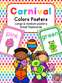 Carnival Theme Color Identification Posters