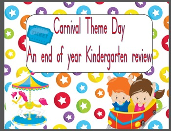 Carnival Theme Day Kindergarten Review Activity