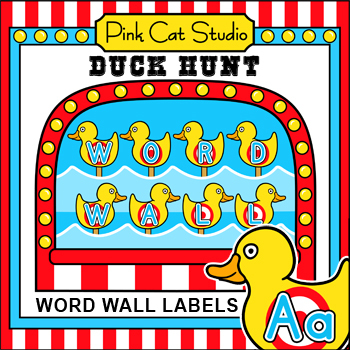 word wall carnival theme duck hunt by pink cat studio tpt