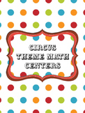 Carnival Theme Math Centers/Stations - 10 Activities