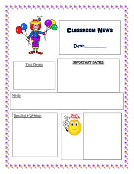 Carnival Theme Newsletter Template