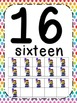 Carnival Theme Number Posters 0-20 - Large, Small & Flashcards