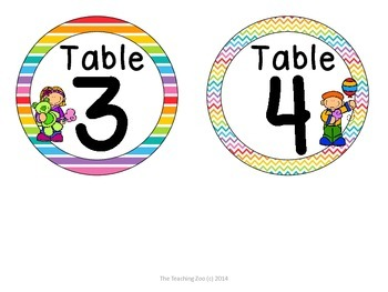Carnival Theme Table Numbers