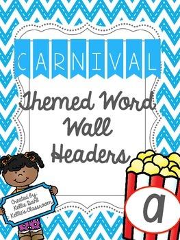 Carnival Theme Word Wall Headers
