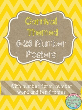 Carnival Themed 0-20 Numbers Posters