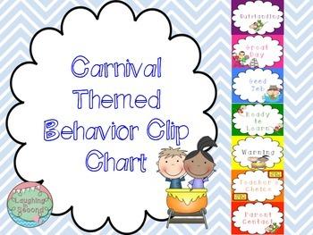 Carnival Themed Behavior Clip Chart