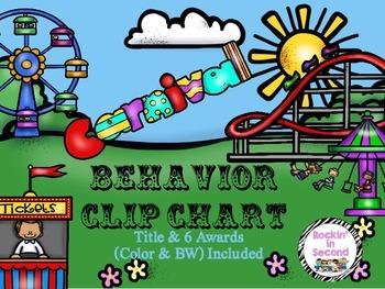 Carnival Themed Behavior Clip Chart Set
