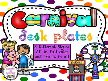 Carnival Themed Desk Plates