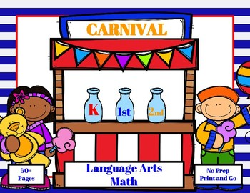 Carnival Themed Language Arts and Math Printables