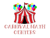 Carnival Themed Math Centers