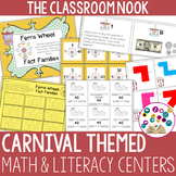 Carnival Themed Math and Literacy Centers for Intermediate Students