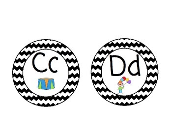Carnival Themed Word Wall Alphabet: