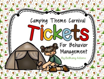 Carnival Tickets for Behavior Management ~Camping Theme~