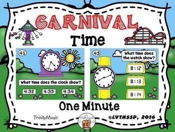 Carnival Time Boom Card Set Bundle (Telling Time)