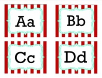 Classroom Decor Carnival Word Wall Alphabet Tags
