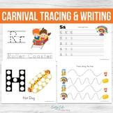 Carnival Tracing and Writing Worksheets