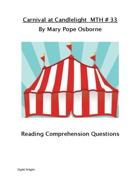 Carnival at Candlelight MTH #33 Reading Comprehension Questions