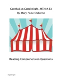 Carnival at Candlelight Magic Tree House #33 Reading Comprehension Questions