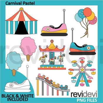 Carnival clip art pastel colors