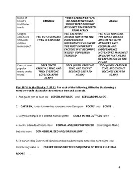 Carnival in Antigua – Comprehension Worksheet
