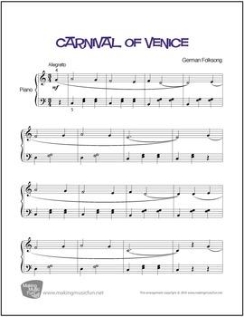 Carnival of Venice   Sheet Music for Piano Solo (Digital Print)