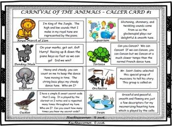 Carnival of the Animals: BINGO GAME - PDF Edition