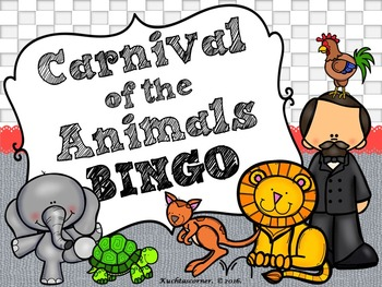 Carnival of the Animals:  BINGO GAME - PPT Edition